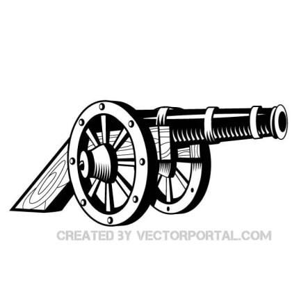 Cannon Illustration Free Vector