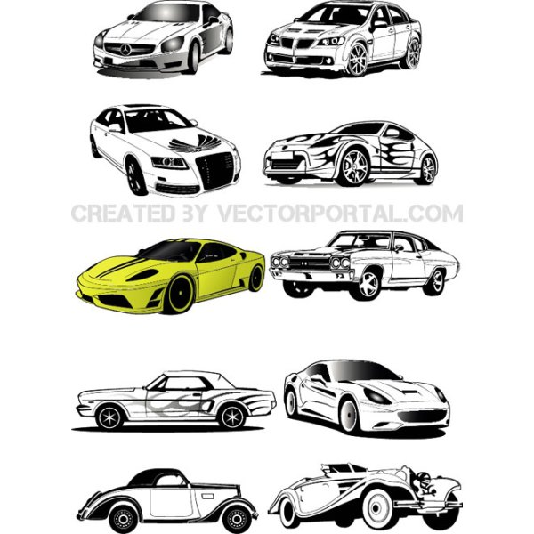 Cars Free Collection Free Vector