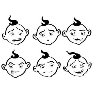 Cartoon Faces Free Vector