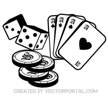 Casino and Gambling Free Vector