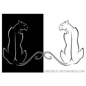 Cat Clip Art Free Vector