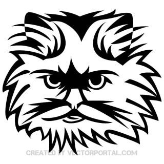 Cat Cute Face Image Free Vector
