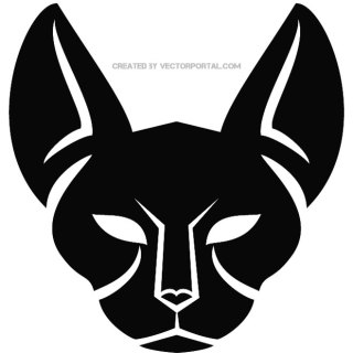 Cat Silhouette Graphics Free Vector