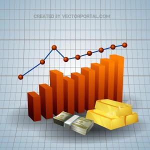 Charts and Money Concept Free Vector