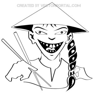 Chinese Man Free Vector