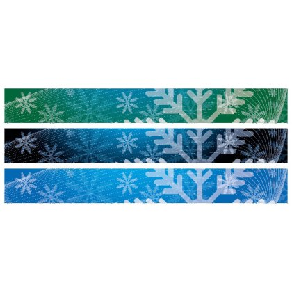 Christmas Banners 728X90 Size Free Vector