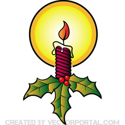 Christmas Candle Image Free Vector