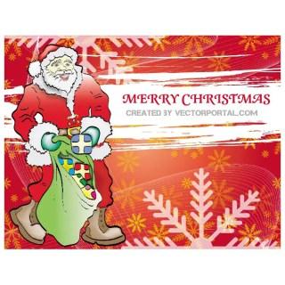 Christmas Santa Claus Background Free Vector