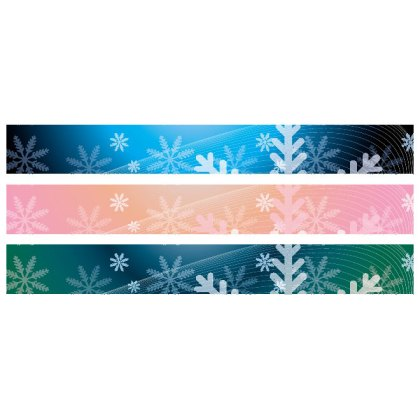 Christmas Snowflakes Banner Background Free Vector