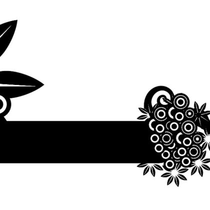 Circles and Flower Black Banner Free Vector