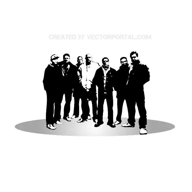 City Crew Image Free Vector