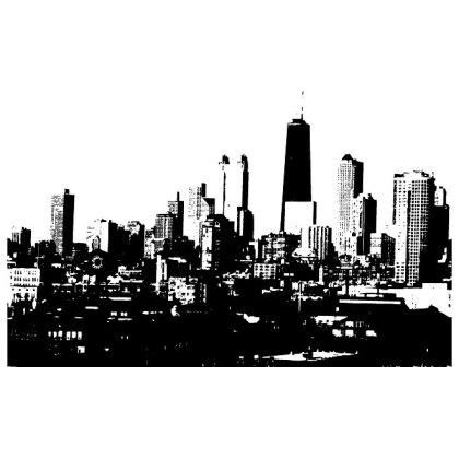 City Skyline Image Free Vector