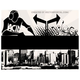 City Skyline Poster Free Vector