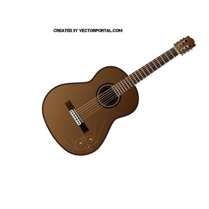 Classical Guitar Graphics Free Vector