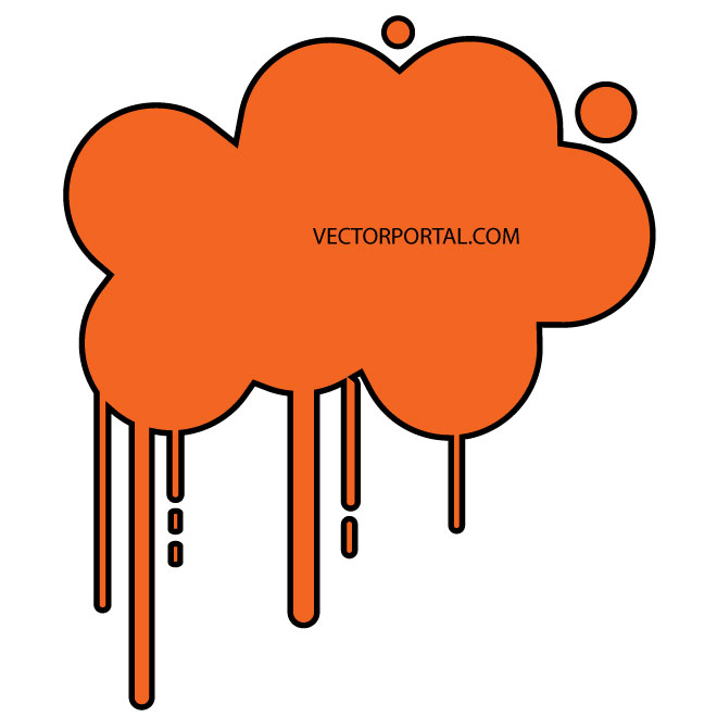 Cloud Dripping Image Free Vector