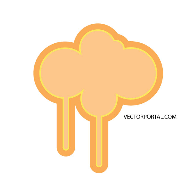 Cloud Drips Element Free Vector