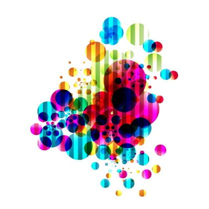 Colored Bubbles Abstract Background Free Vector