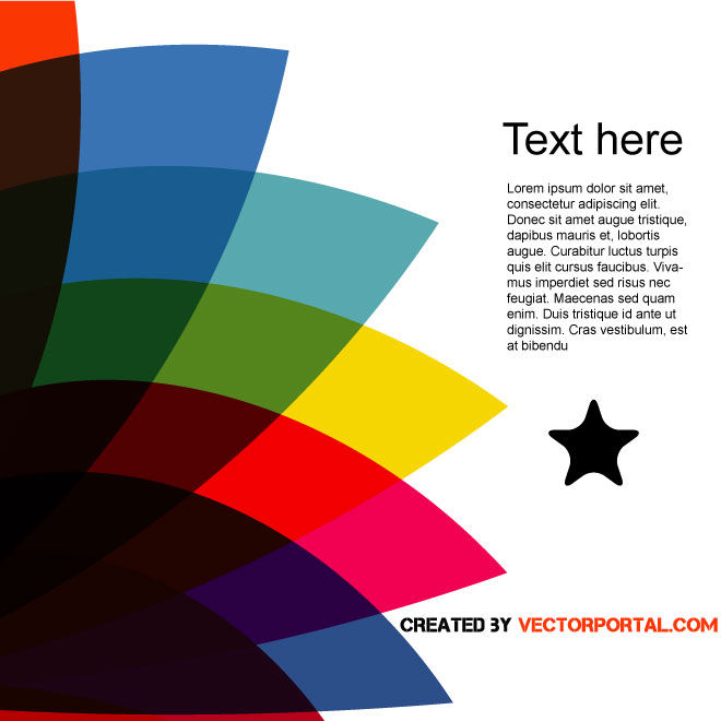 Colored Letter Size Design Free Vector