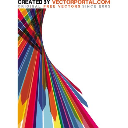 Colored Stripes Background Free Vector
