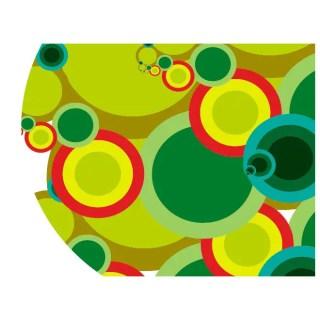 Colorful Abstract Retro Circles Free Vector