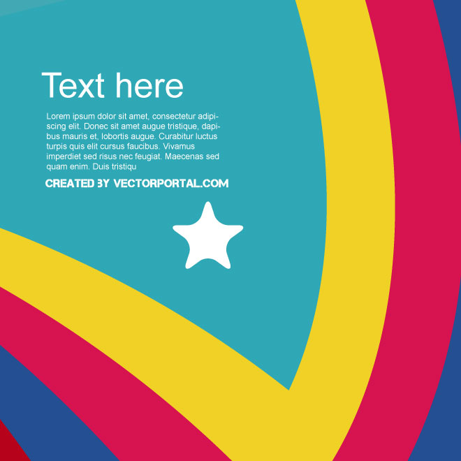 Colorful Background Poster Free Vector