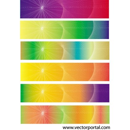 Colorful Banner Set Free Vector