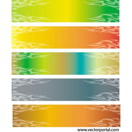 Colorful Banners Free Vector