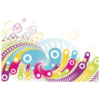 Colorful Bubbles Abstract Free Vector