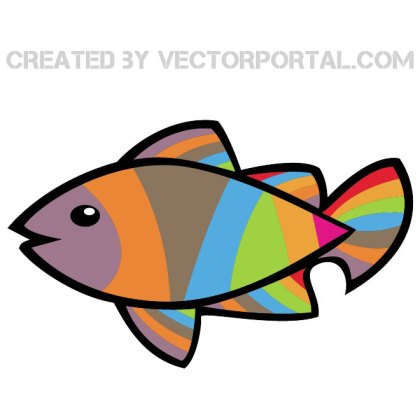 Colorful Fish Image Free Vector
