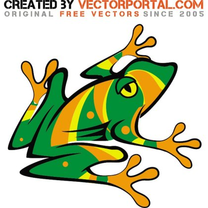 Colorful Frog Illustration Free Vector