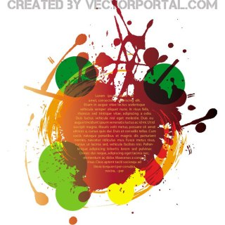 Colorful Grunge Elements Free Vector