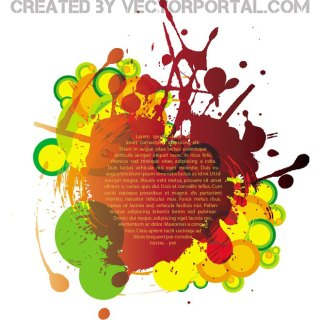 Colorful Ink Splatter Free Vector