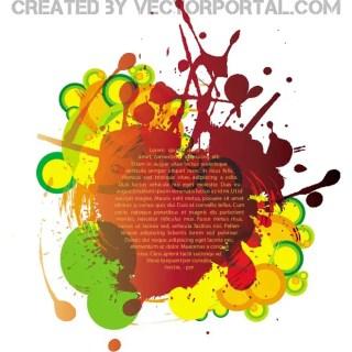 Colorful Ink Splatter Free Vector