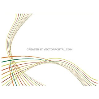 Colorful Lines Stock Free Vector