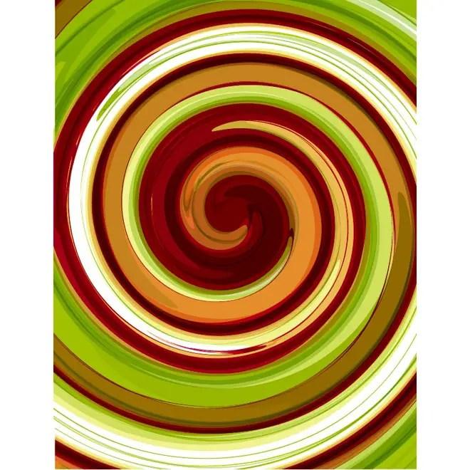 Colorful Swirl Art Free Vector