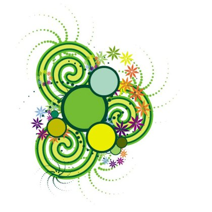 Colorful Swirls and Circles Image Free Vector