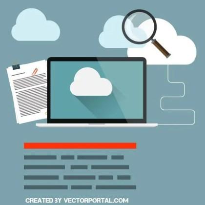 Computer Cloud Concept Free Vector