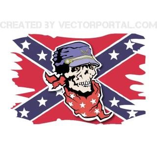 Confederate Flag Free Vector