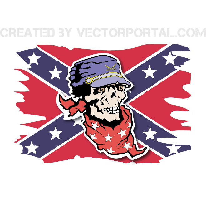 Confederate Flag Free Vector