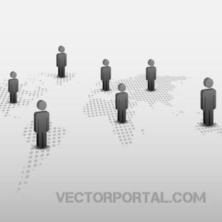 Connected People Graphics Free Vector