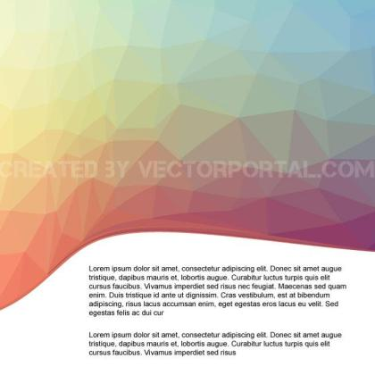 Cover Page with Polygonal Pattern Free Vector
