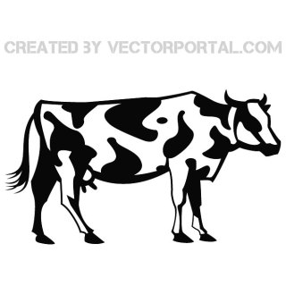 Cow Graphics Free Vector
