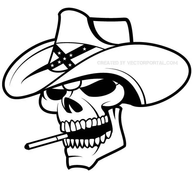 Cowboy Skull Graphics Free Vector