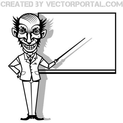 Crazy Professor Image Free Vector