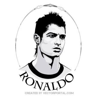 Cristiano Ronaldo Portrait Free Vector