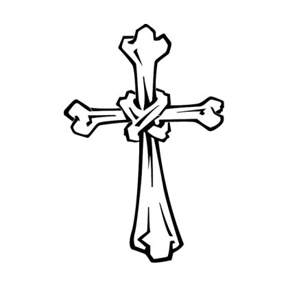 Cross of Bones Image Free Vector
