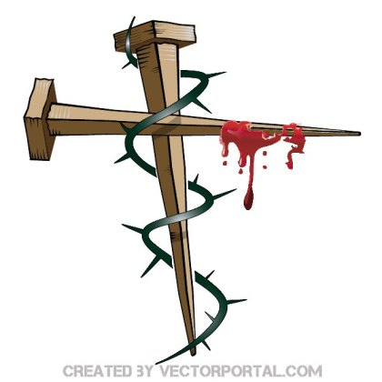 Cross of Nails Free Vector