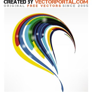 Curvy Abstract Stock Free Vector