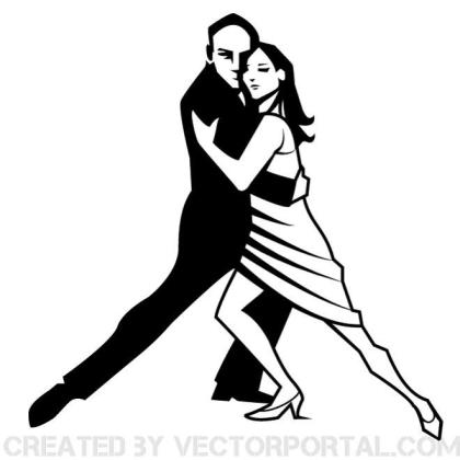 Dancing Couple Clip Art Free Vector