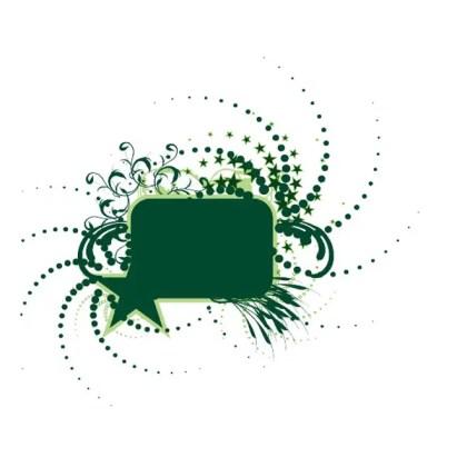 Dark Green Box Free Vector